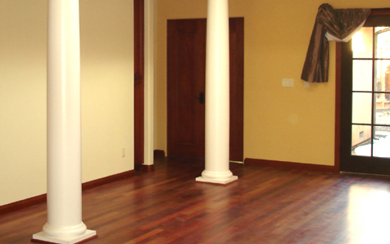 Remodeled Room with two pillars
