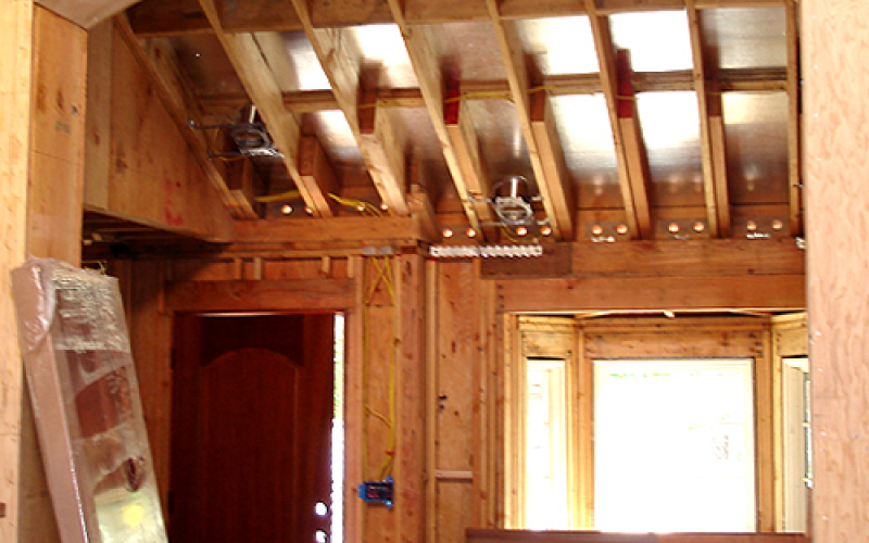 Entryway ceiling construction