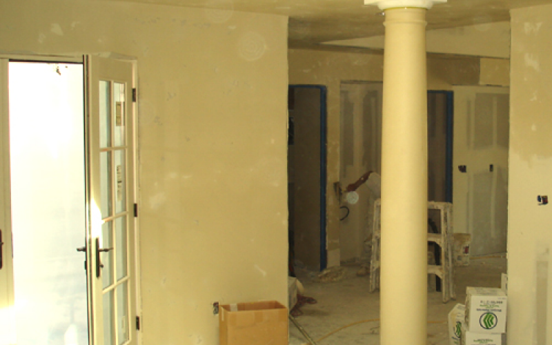 Interior during remodel