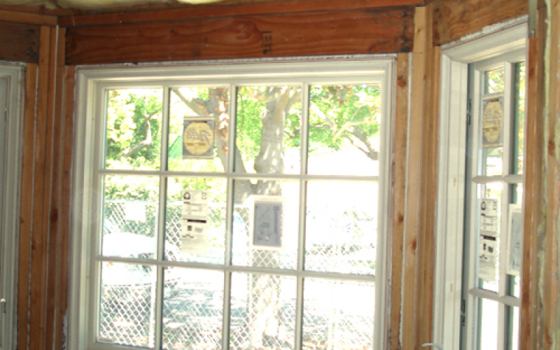 Bay window during remodel