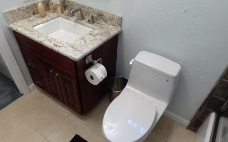 Remodeled Bathroom and Toilet