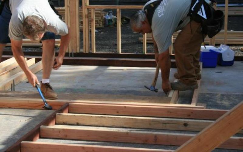 Prepping Interior walls.