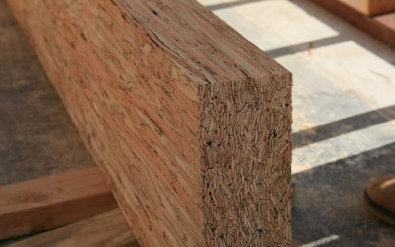 Support beams made from recycled wood!