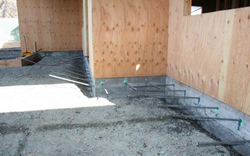 Concrete Foundation with Rebar so it doesn't shift or Crack