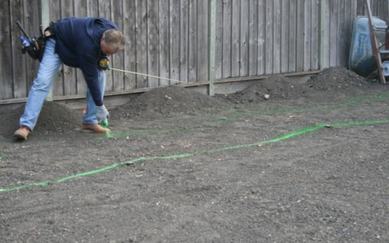 Preparing the rear landscaping